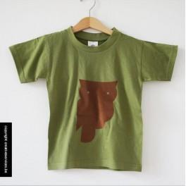 kaki t-shirt + uil