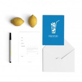 blue mojito invitations
