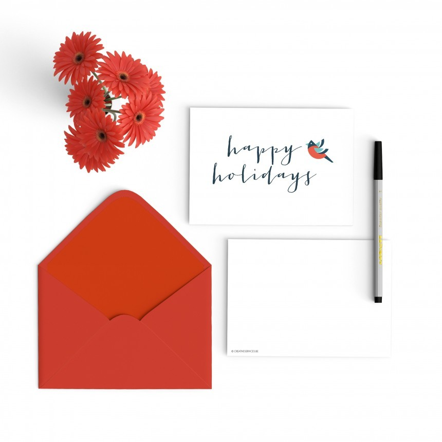 happy holidays bird [set]