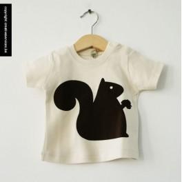 bio t-shirt + eekhoorn