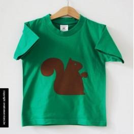 groene t-shirt + eekhoorn